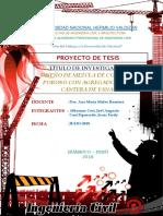 Proyecto de Tesis - Diseño de Mezcla de Concreto Poroso