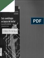 Zecchetto Seis Semiologos en Busca Del Lector Zechetto Veron Eco