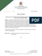 Letter on Elsner Internal Investigation