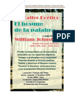 Taller El Bosque de La Palabra W Johnston