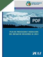 Plan de Prevencion y Reduccion Del Riesgo de Desastres Al 2021