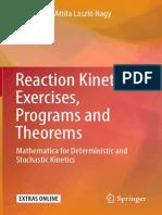 Toth j Nagy a l Papp d Reaction Kinetics Exercises Programs