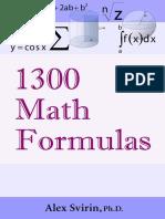1300 Math Formulas - Alex Svirin