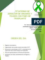 COMITÉ INTERNO DE DONACION DE ORGANOS Y TEJIDOS ENERO 2018.ppt