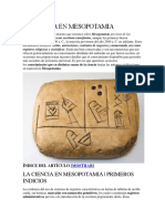 La Ciencia en Mesopotamia Archivoo