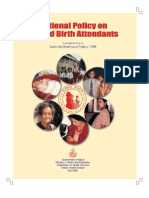 6 1 Safe Motherhood and SBA Policy