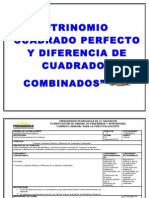 """""""TRINOMIO CUADRADO PERFECTO Y DIFERENCIA DE CUADRADOS COMBINADOS"""""""