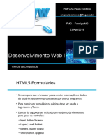 Aula 02 Desenvolvimento WEB - Formularios 22-08-2018