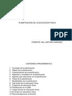Planificacion de La Educacion Fisica