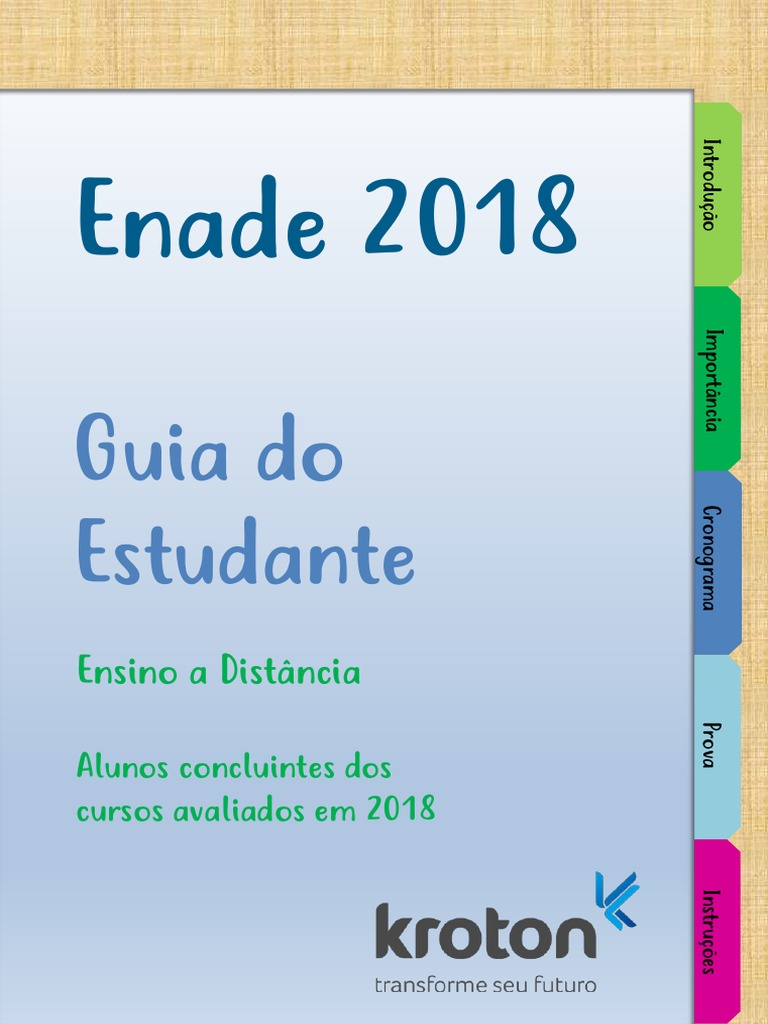 Guia Do Estudante Enade 2018 Ead