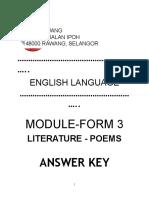 Module - Form 3 - Literature Poems