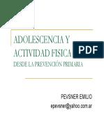 4 Actividad Física en La Adolescencia. Méd. Emilio Pevsner