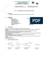 Synthesis of Aspirin Act 4 Final Output