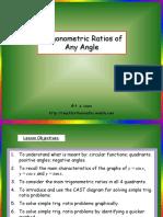 Trig. Ratios of Any Angle