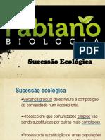 SUCESSÃO ECOLÓGICA -