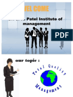 TQM (Total quality Management)