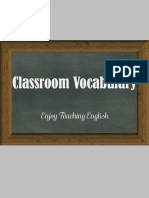 Classroom Vocabulary