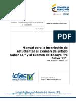 Manual inscripcion estudiantes pre saber 11 - saber 11 - para colegios 2017 - v2.pdf