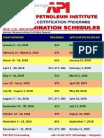 2018 API Icp Exam Schedules