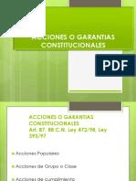 Acciones o Garantias Constitucionales