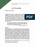 A cosmopolitan Citizenship Linklater
