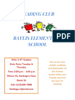 classroom flyer