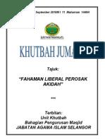 21.09.2018 (Rumi) Fahaman Liberal Perosak Akidah