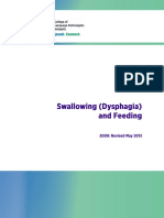 Swallowing (Dysphagia) and Feeding
