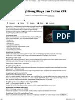 Simulasi Menghitung Biaya Dan Cicilan KPR _ Investasi Dan Pembiayaan _ Rumah