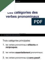 2 Les Categories Des Verbes Pronominaux
