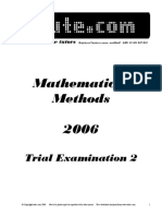 Itute 2006 Mathematical Methods Examination 2