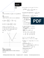 Itute 2007 Mathematical Methods Examination 1 Solutions