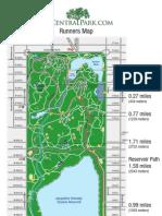 Central Park Running Map