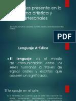 Lenguaje Presente en La Forma Artística y Artesanales Estudiantes de 6to