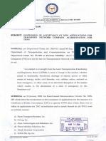LTFRB Memorandum Circular 2018-016