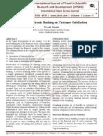 Impact of Electronic Banking on Customer Satisfaction