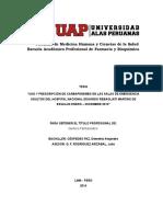 USO Y PRESCRIPCION DE CARBAPENEMES  EN LAS SALAS DE EMERGENCIA ADULTOS DEL HNERM UAP (TESIS).docx