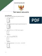 Contoh Soal Test Bakat Skolastik - CPNS