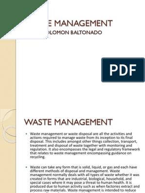 Waste Management | Waste Management | Incineration