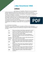 Liste Des Fonctions VBA