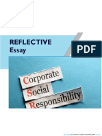 Reflective essay on CSR