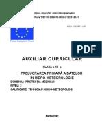 Prelucrarea primara a datelor in hidro-meteorologie.doc
