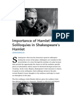 Importance of Hamlet's Soliloquies