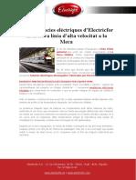 Les resistències elèctriques d'Electricfor en la nova línia d'alta velocitat a la Meca