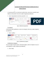 Dar formato a un documento de word