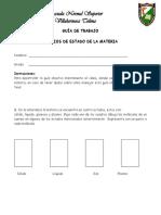 Guía de Trabajo Ciencias Septimo