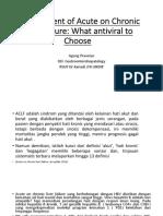 Dr. Agung - Acute on Chronic Liver Failure