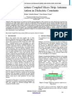Multi Layer Aperture Coupled Micro Strip Antenna With Variation in Dielectric Constants