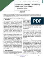 Study of Image Segmentation Using Thresholding Technique on a Noisy Image