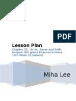 Lesson Plan Asid Alkali
